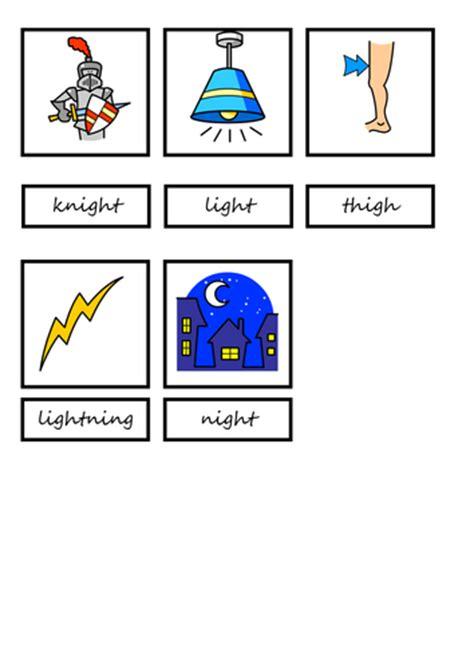igh word  picture match  teresa teaching