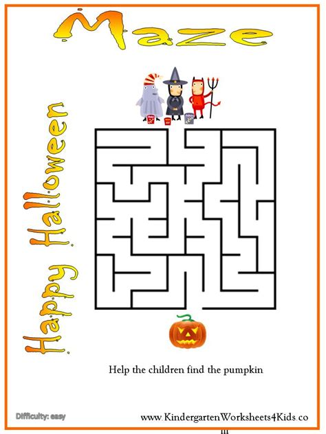 worksheets activities and printables 518 | halloween maze easy%20%281%29