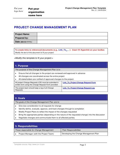 change management plantemplate