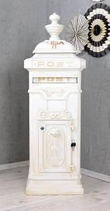 Briefkasten Shabby Chic : letter box white post box country house style ~ Watch28wear.com Haus und Dekorationen