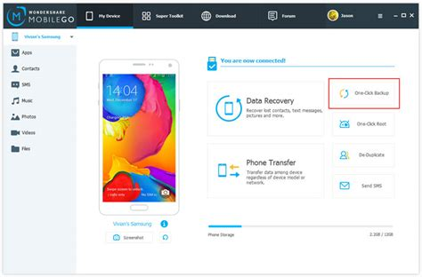backup android backup restore wondershare mobilego user guide