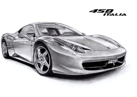 ferrari drawing ferrari 458 by francoissmit on deviantart