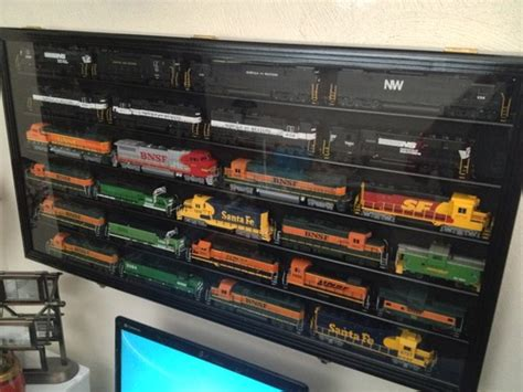 Amazon.com - HO Scale Train Display Case Cabinet Wall Rack