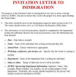 immigration invitation letter sample