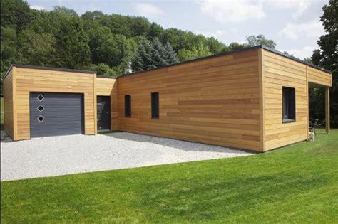 Maison Bois Plain Pied Contemporaine by Myotte Duquet Architecture Bois Plain Pied 100m2 Contemporain