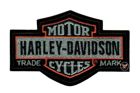 Large Harley Davidson Nostalgic Long Bar Shield Vest Patch