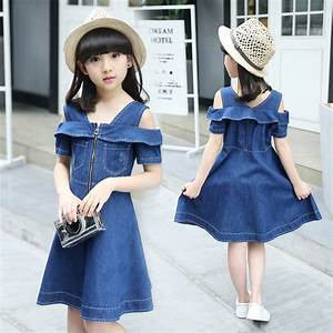 Aliexpress.com  Buy Baby Girls clothing 2017 summer denim sundress kids party dress children ...