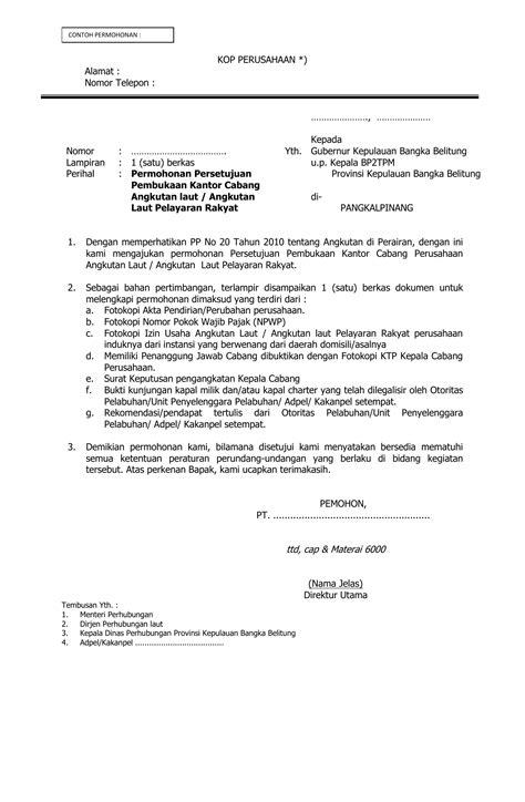 Contoh Surat Penunjukan Kepala Cabang - Mosaicone