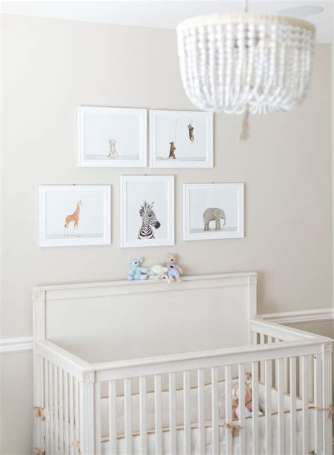 fresh white nursery featuring our malibu chandelier and