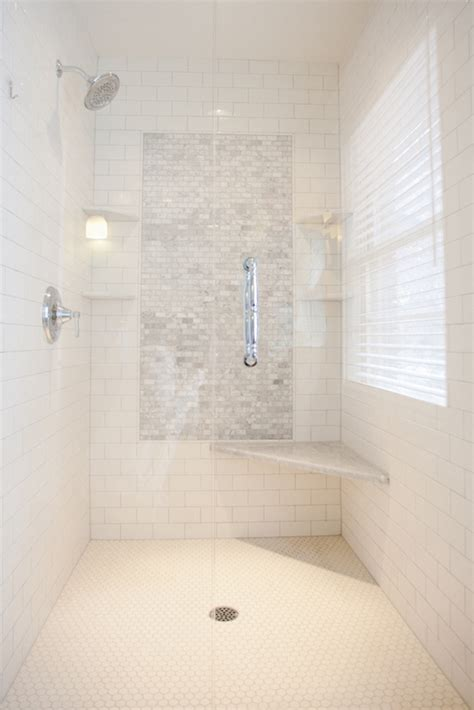accent tile in shower shower accent tiles transitional bathroom tiek built homes