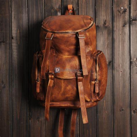 large leather backpacks mens vintage leather backpack