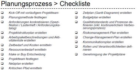prozessgruppen im detail planungsprozess mit checkliste