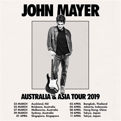 It includes songs that date back as far as. John Mayer Announces Spring 2019 International Tour Dates