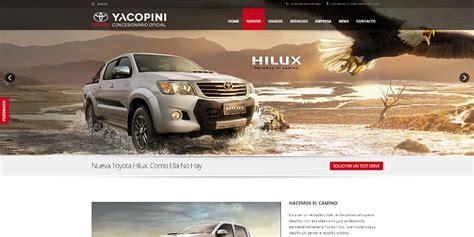 pagina toyota página web toyota yacopini