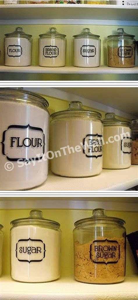 Labels For Kitchen Canisters by 17 Best Ideas About Vinyl Labels On Cricut