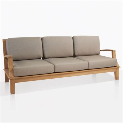westminster outdoor sofa teakwood couch teak warehouse