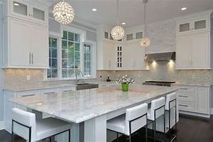 37 gorgeous kitchen islands with breakfast bars pictures With kitchen colors with white cabinets with papier pointe