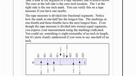 reading a measure easy fractions how to read a tape measure youtube