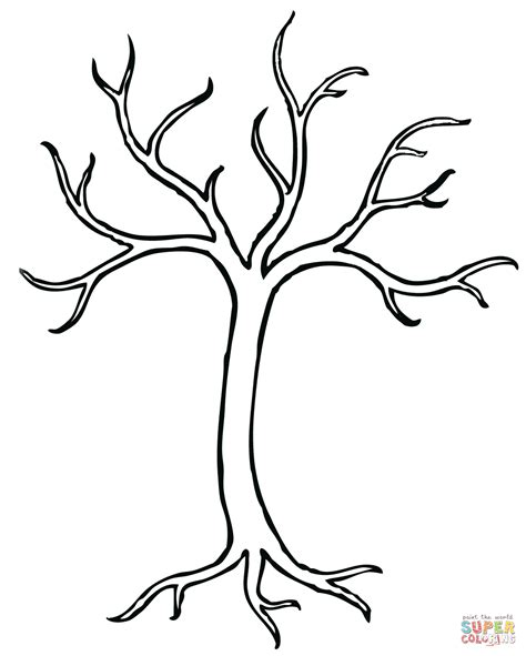 bare tree coloring page  printable coloring pages