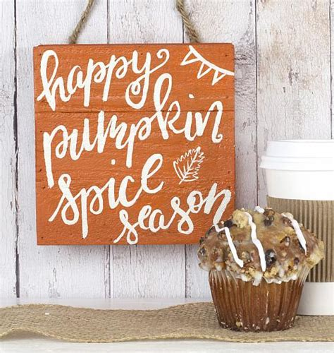 pumpkin spice season wooden sign project  decoart