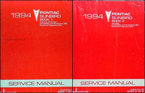 free car repair manuals 1986 pontiac sunbird security system 1994 pontiac sunbird repair shop manual original set