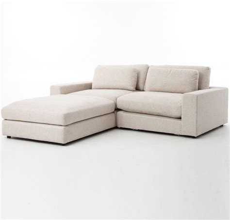 Small Contemporary Sofas by Bloor Beige Contemporary 3 Small Sectional Sofa