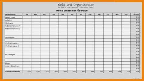 tabelle einnahmen ausgaben vorlage genial  einnahmen
