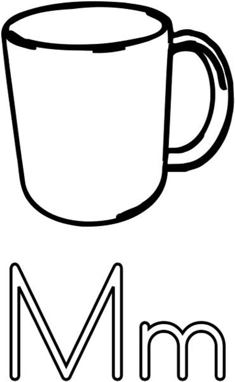 mug coloring page printable worksheets  kids