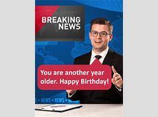 Breaking News! Funny Birthday Card Birthday & Greeting
