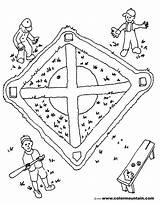 Baseball Field Coloring Pages Maze Drawing Activity Getdrawings sketch template