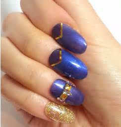Gallery for gt dark blue nail designs