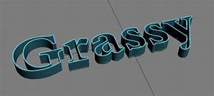how to make eye catching grass effect typography in 3d max With hollow 3d letters