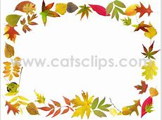 Cat's Clips Fall Leaves Animated GIF Border