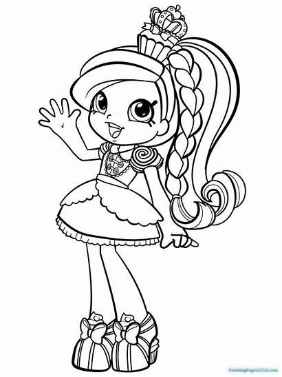 Shopkins Dolls Coloring Pages Easy Printable Getcolorings