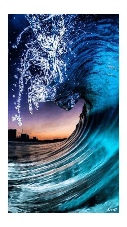 Beach Waves Gifs Animated Beaches Ocean Amazing