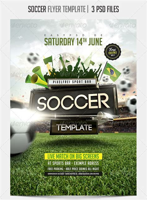 soccer flyer templates word excel samples