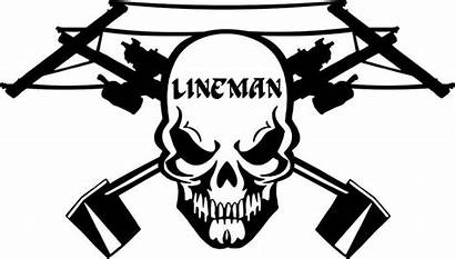 Lineman Vinyl Skull Decal Decals Power Electrician
