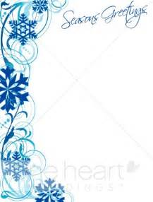 wedding menus and programs blue snowflake border winter borders