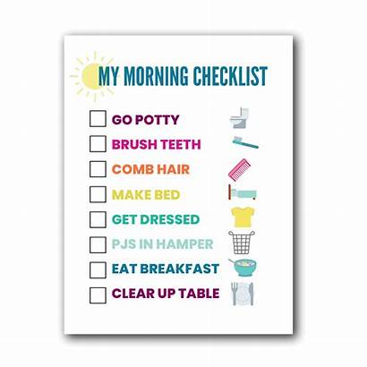 Routine Morning Chart Printable Help Checklist Stress