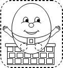 Humpty Dumpty Puzzle Template by Learning Printables