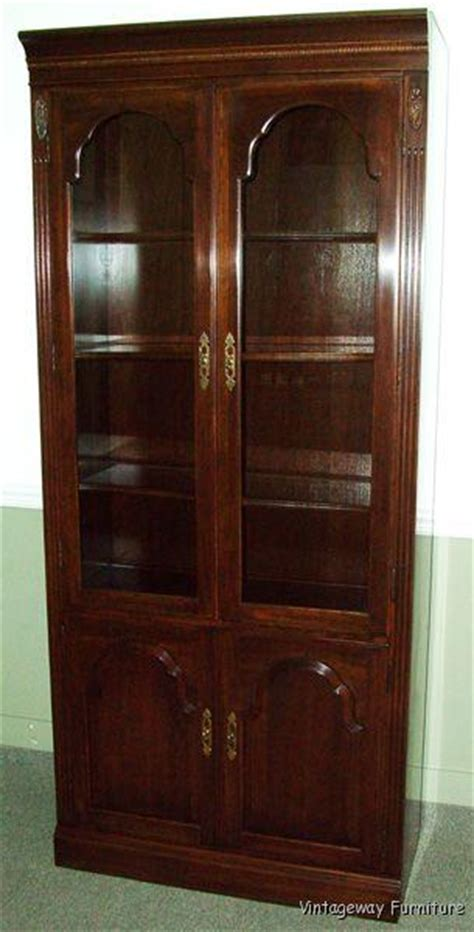 Ethan Allen Curio Cabinet by 5958 Ethan Allen Georgian Court Bookcase Wall Unit Cabinet