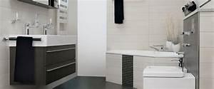 Badezimmergestaltung Ohne Fliesen : schlichte eleganz durch kontraste badinspiration ~ Sanjose-hotels-ca.com Haus und Dekorationen