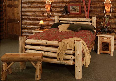 cedar log bed kits rustic furniture mall  timber creek