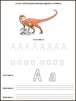 dinosaur alphabet letters worksheets  activities dino