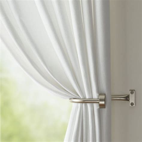 l shaped curtain rod curtain stunning curtain tie backs drapery tiebacks and