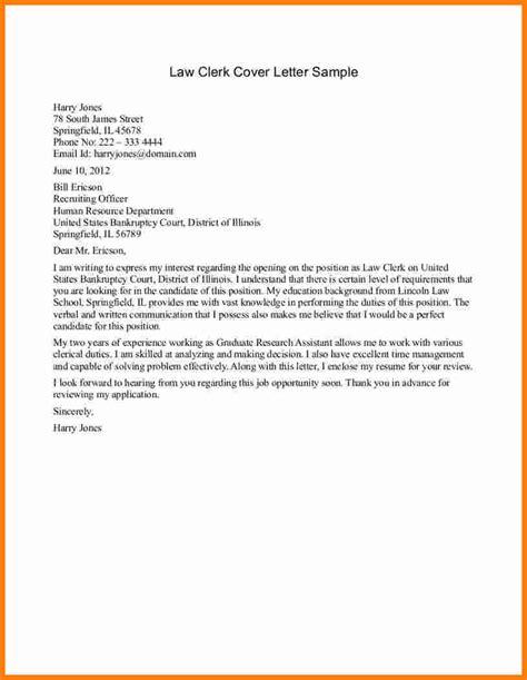Clerk Resume Cover Letter by 5 Letter Sles Ledger Paper