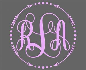 Monogram Decal Monogram Sticker for your car window, cell ...