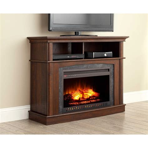 whalen fireplace tv stand whalen media fireplace console for tv s up to 45 quot rustic