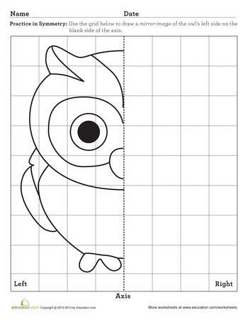 learning symmetry owl worksheets owl and math