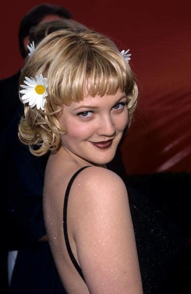drew barrymore  oscars hair    years stylebistro